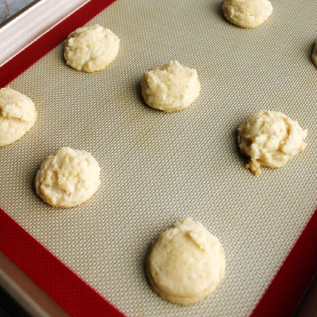 Freshly baked soft sweetened condensed milk cookies fresh from the oven.