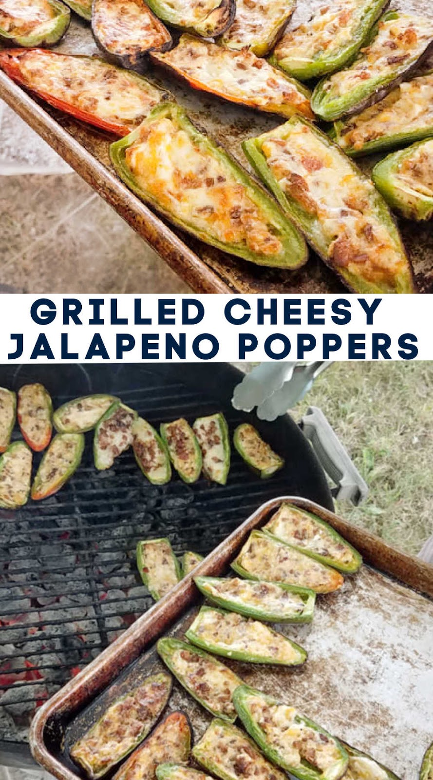 Jalapenos stuffed with gooey cheese and plenty of bacon make for the perfect part spicy part cream all delicious appetizer. We have them almost every week during the summer!