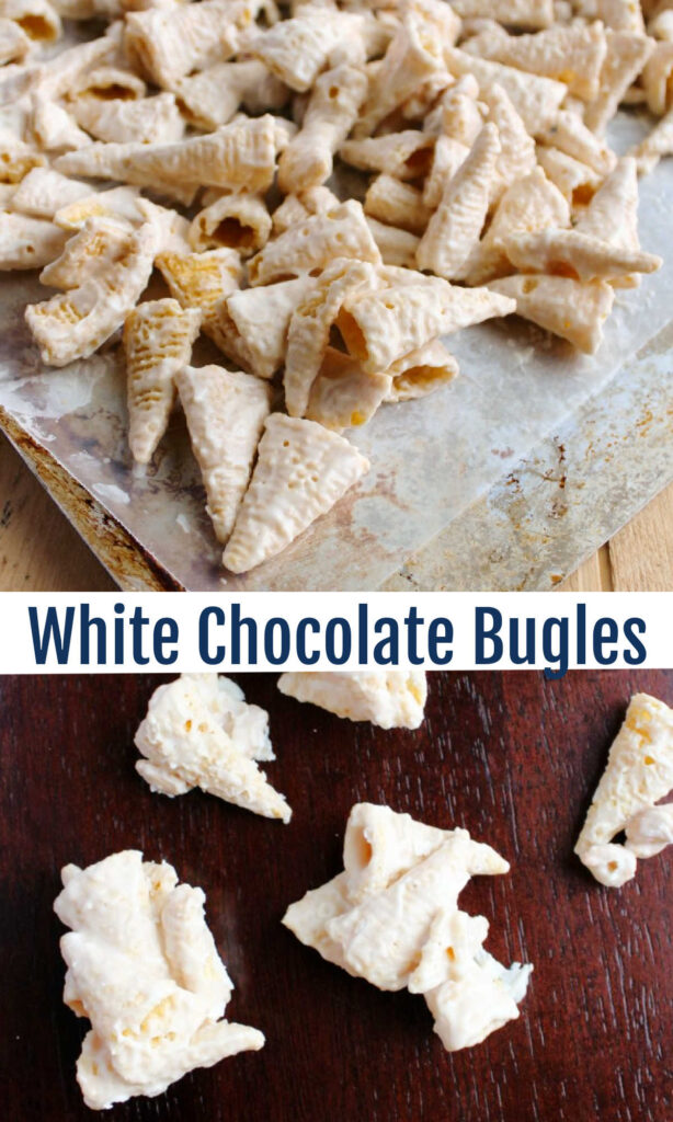 White chocolate bugles are the perfect mix of sweet and salty. If you start munching, beware: it will be hard to stop!