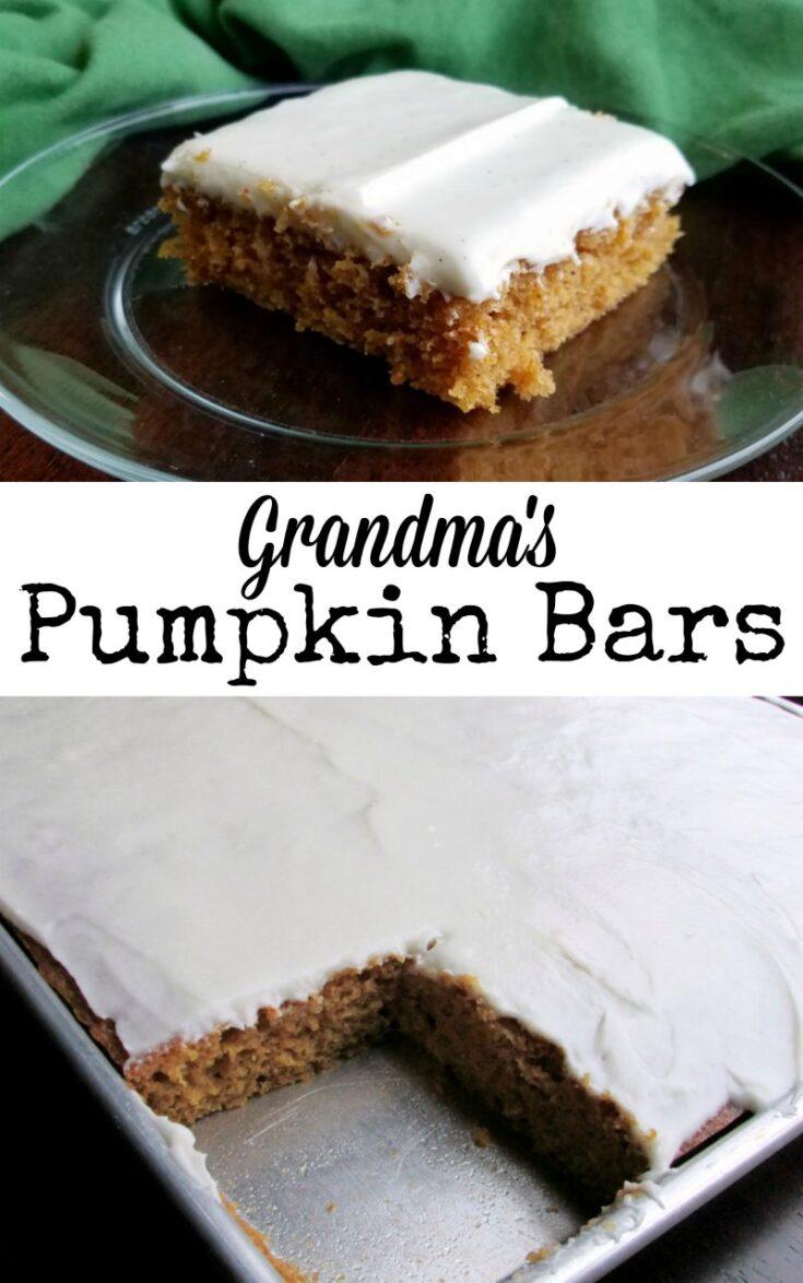 grandmas pumpkin bars