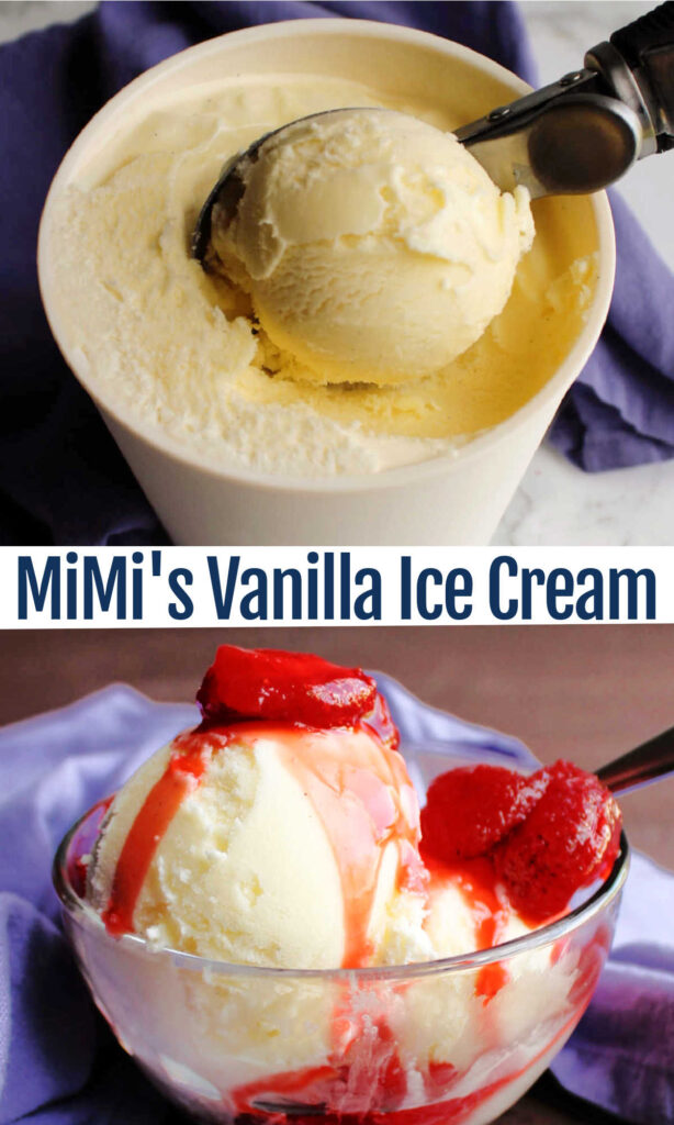 Rich, smooth creamy homemade vanilla ice cream is a perfect treat. It stands on its own as a great dessert and makes almost any pie, cake, cobbler, or crunch better. This recipe from MiMi is our favorite.