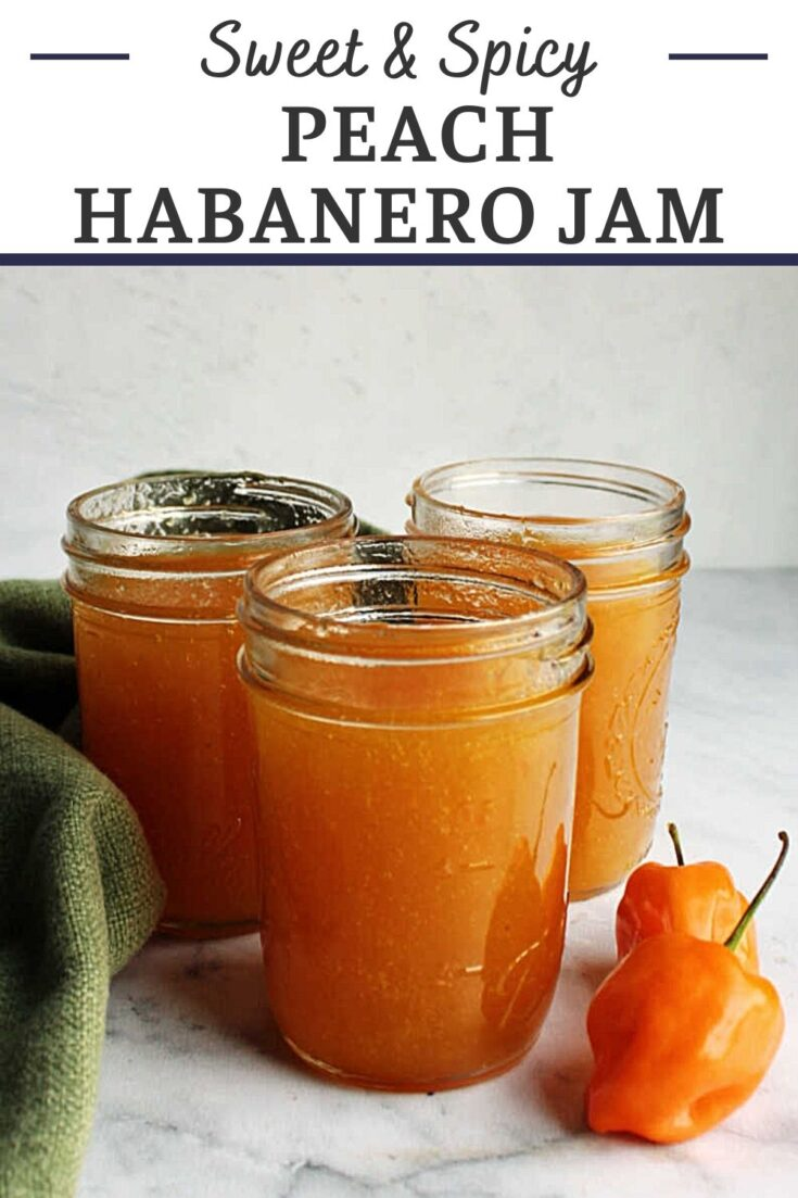 sweet spicy peach habanero jelly