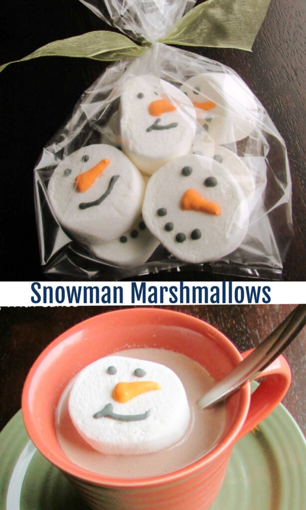 Simple and cute, these jumbo marshmallow snowmen will make the cutest cup of hot cocoa you've ever had!