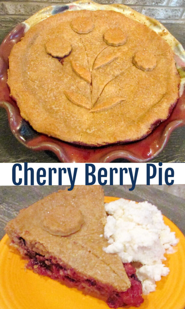 Full of berries and with a surprising crust, this pie is a family favorite.  Cherry berry pie is sure to become one of your favorites as well!