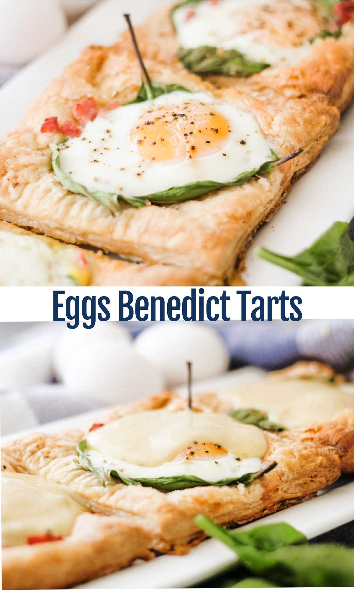 Make an eggs Benedict style breakfast even easier but maintain that bit of elevation with these puff pastry tarts. It is all done in the oven and the optional drizzle of Hollandaise makes it irresistible.