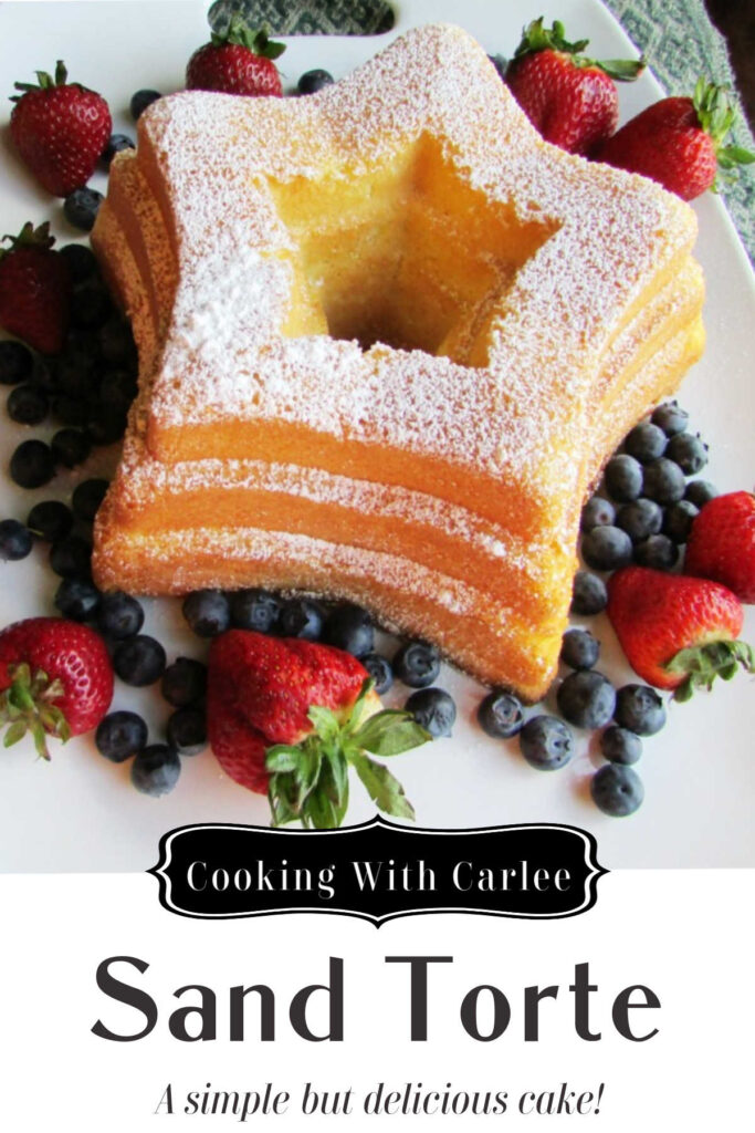 This cake has a very fine, sand-like crumb.  I think you may find the list of ingredients surprising too.  It is a classic cake refreshed!