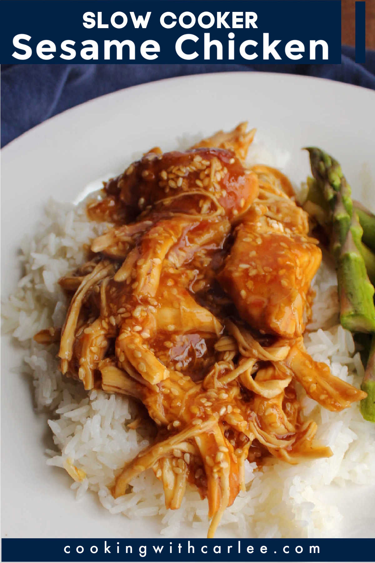 Sweet, salty and umami collide in this easy slow cooker sesame chicken. Serve it over rice for a flavorful weeknight meal.