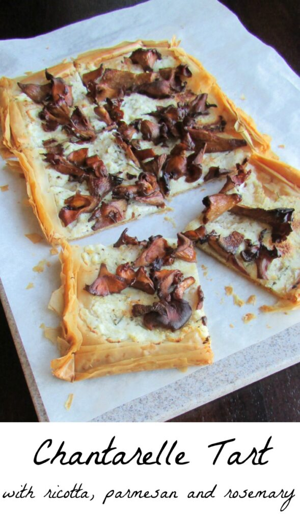 This tart is so good! The crust is flaky and the mushrooms, wine and cheese were just meant to go together. If you can't find wild mushrooms, use whatever mushrooms you have.