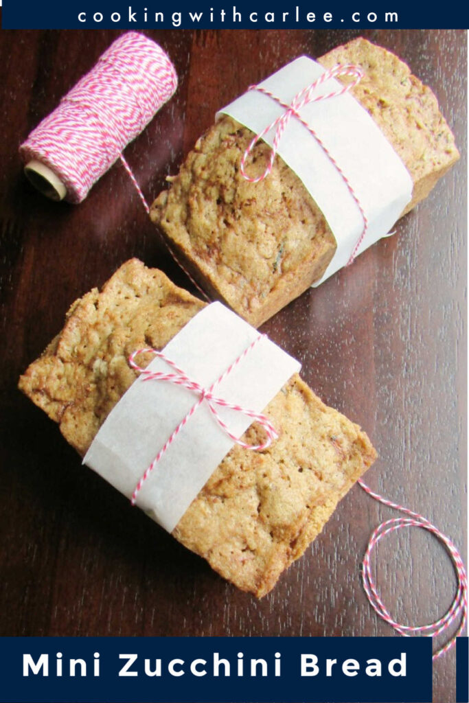When you have extra zucchini laying around, you have to make zucchini bread. This quick bread is delicious and loaded with shredded squash. It is lightly spiced, just the right amount of sweet and super tasty. Make some for yourself and some for gifts. You can even freeze some for later!