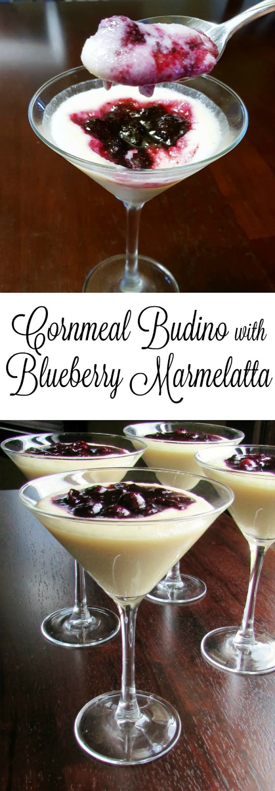 This simple dessert is perfect for al fresco dining.  It is elegant enough for a dinner party and simple enough for just because.  If you haven't tried cornmeal pudding yet, you really should!