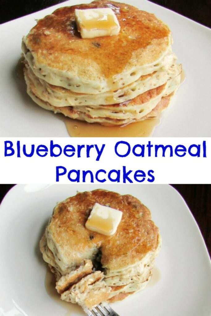 These pancakes are heartier and healthier than traditional flapjacks. You are going to love the oatmeal and berries in these babies. Breakfast is served!