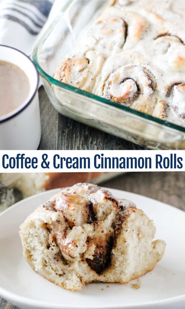 Your favorite coffee house drink and breakfast treat have now become one amazing thing. These coffee and cream cinnamon buns are a must try for brunch or even as a fun dessert.