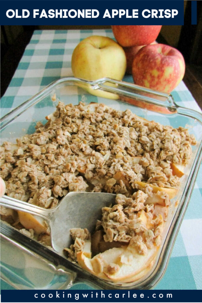 This simple apple crisp recipe comes straight from my great-grandma, so you know it has to be good! Celebrate fall with a easy treat!