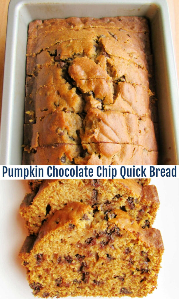 A little sweet and a little spicy, this pumpkin bread is the perfect combination of both. It's a taste of fall with a sprinkling of chocolate chips to take it to the next level!
