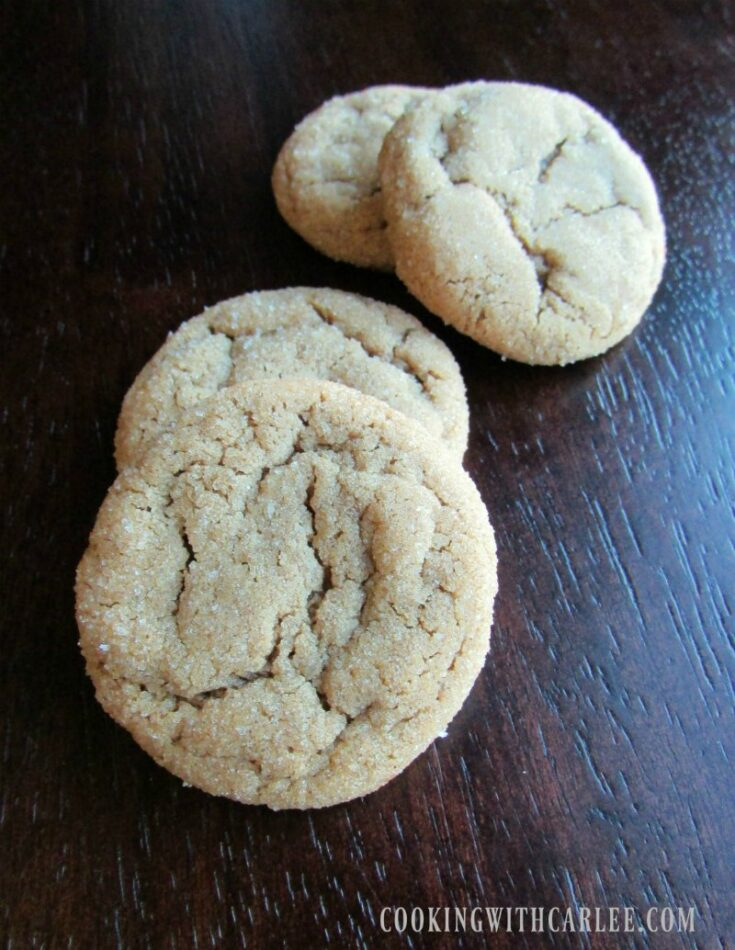 crackly chewy molasses spice cookies.