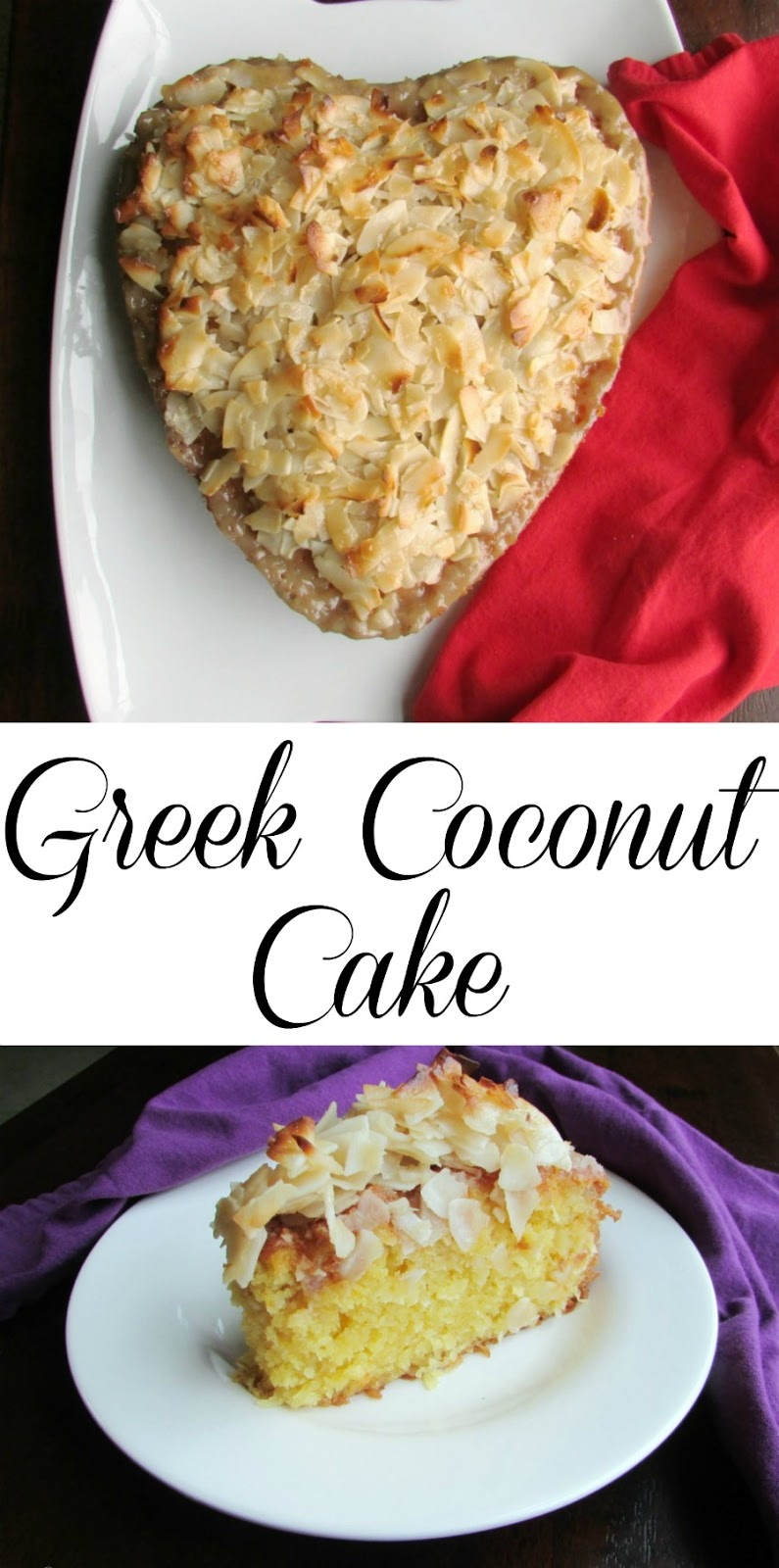 This syrup soaked cake is LOADED with coconut and it is delicious, moist and full of flavor! Greek Coconut Cake is going to be a new favorite!