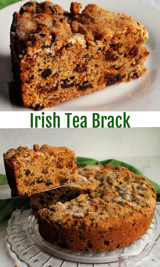 Tea soaked fruits are baked up in a whole wheat quick bread for a delicious breakfast or tea time treat. Irish tea brack is perfect for St Patrick's Day or any day!