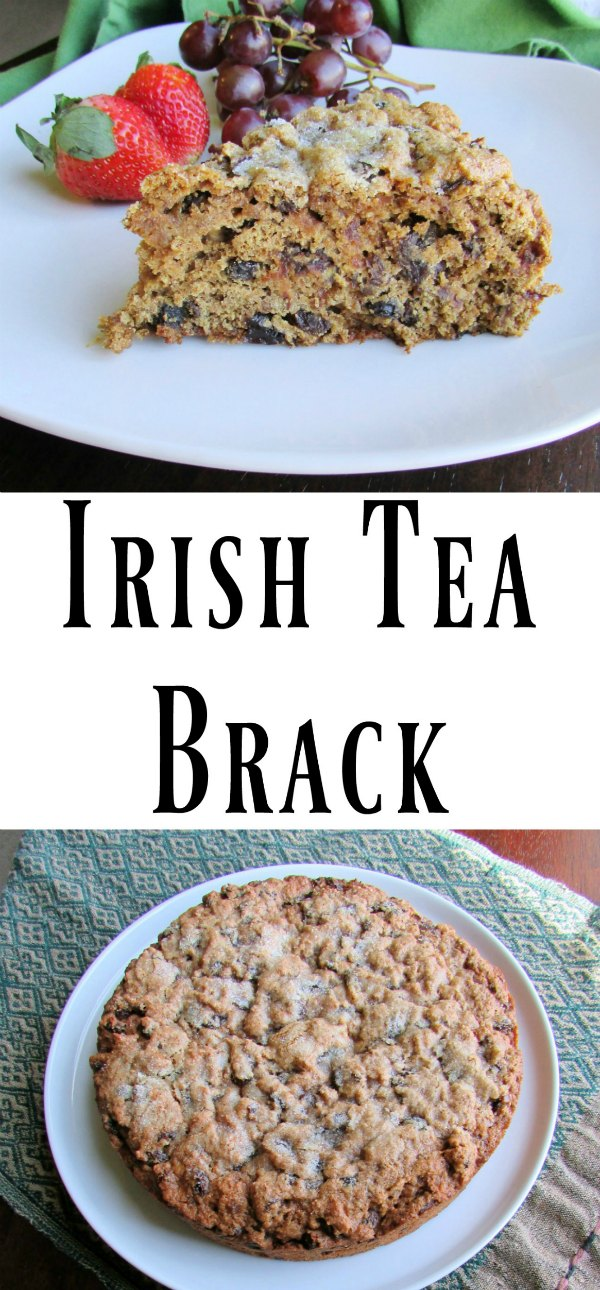 Tea soaked fruits are baked up in a whole wheat quick bread for a delicious breakfast or tea time treat.  Perfect for St Patrick's Day or any day!