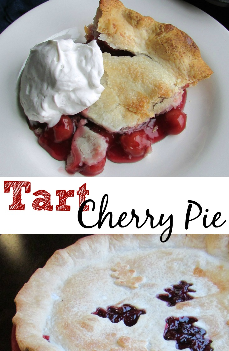 This tart cherry pie works well with fresh or frozen cherries.  It takes the guess work out of whether or not the filling is going to set up because you cook it on the stove for a bit first.  That way you have a chance to adjust as needed before it ever hits the pie pan!