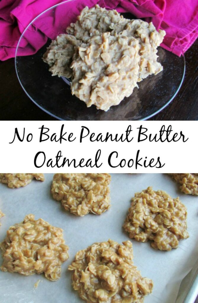 Sometimes you need a little something sweet, in a hurry and without an oven! These No Bake Peanut Butter Oatmeal Cookies are a quick, easy family pleasing treat.