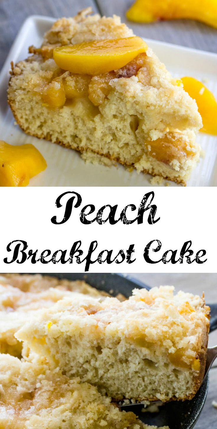 I just love peaches (and cake!) So having an easy, delicious coffee cake that is loaded with them is a must. So pour a cuppa and dig in!