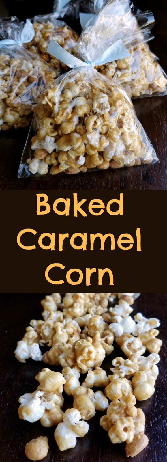 When you sweet tooth hits, but you also need something crunchy and a little salty, caramel corn is the perfect answer.  This recipe makes nice crisp but buttery and sweet caramel corn.  It comes together quickly and then bakes to the perfect finish.  It is a must make for movie night, parties and game day!