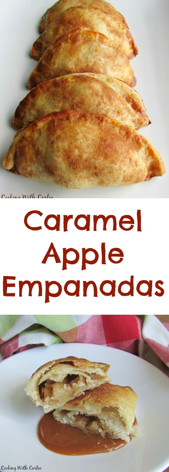 A warm flaky crust with a caramel apple filling is what dreams are made of! These caramel apple empanadas finger licking good!