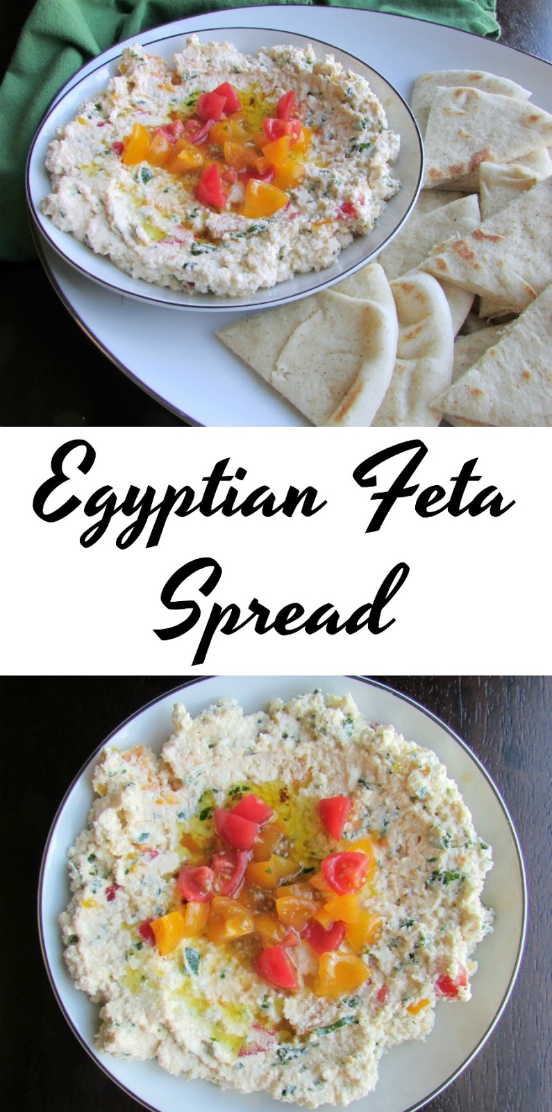 A perfect mix of fresh herbs, lemon juice, feta, tomatoes and extra virgin olive oil spread over pita. This would make a perfect starter for your next meal!