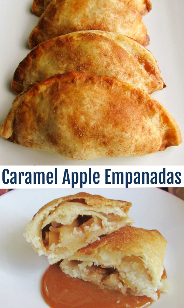 These caramel apple empanadas are easier to make than you'd think and so good. Try eating one still warm from the oven and you are sure to be hooked!