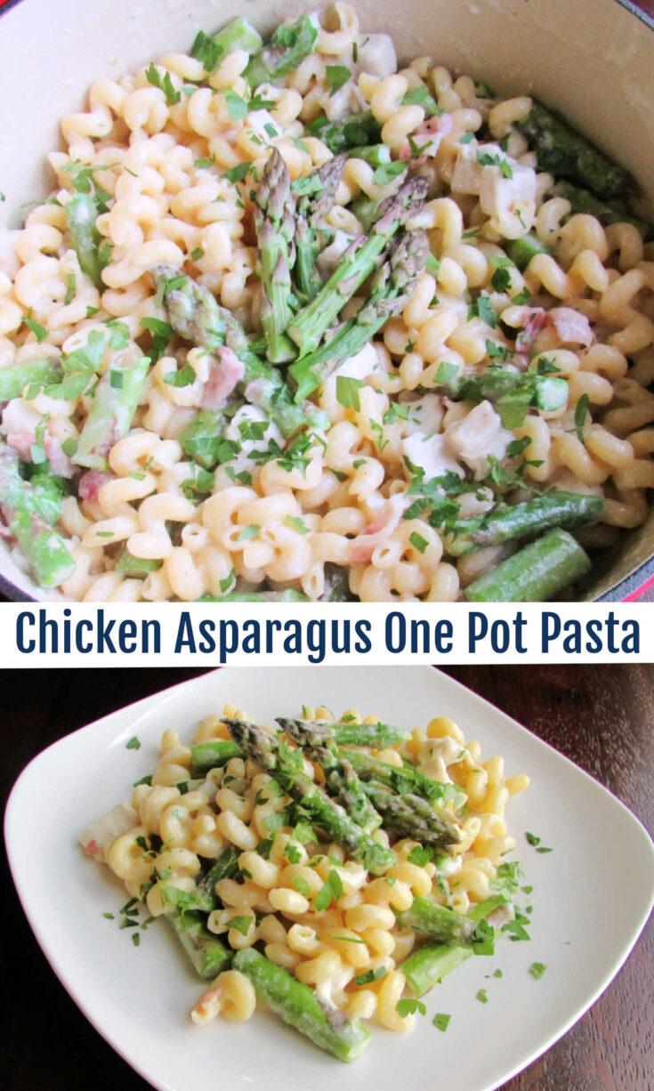 chicken asparagus one pot pasta