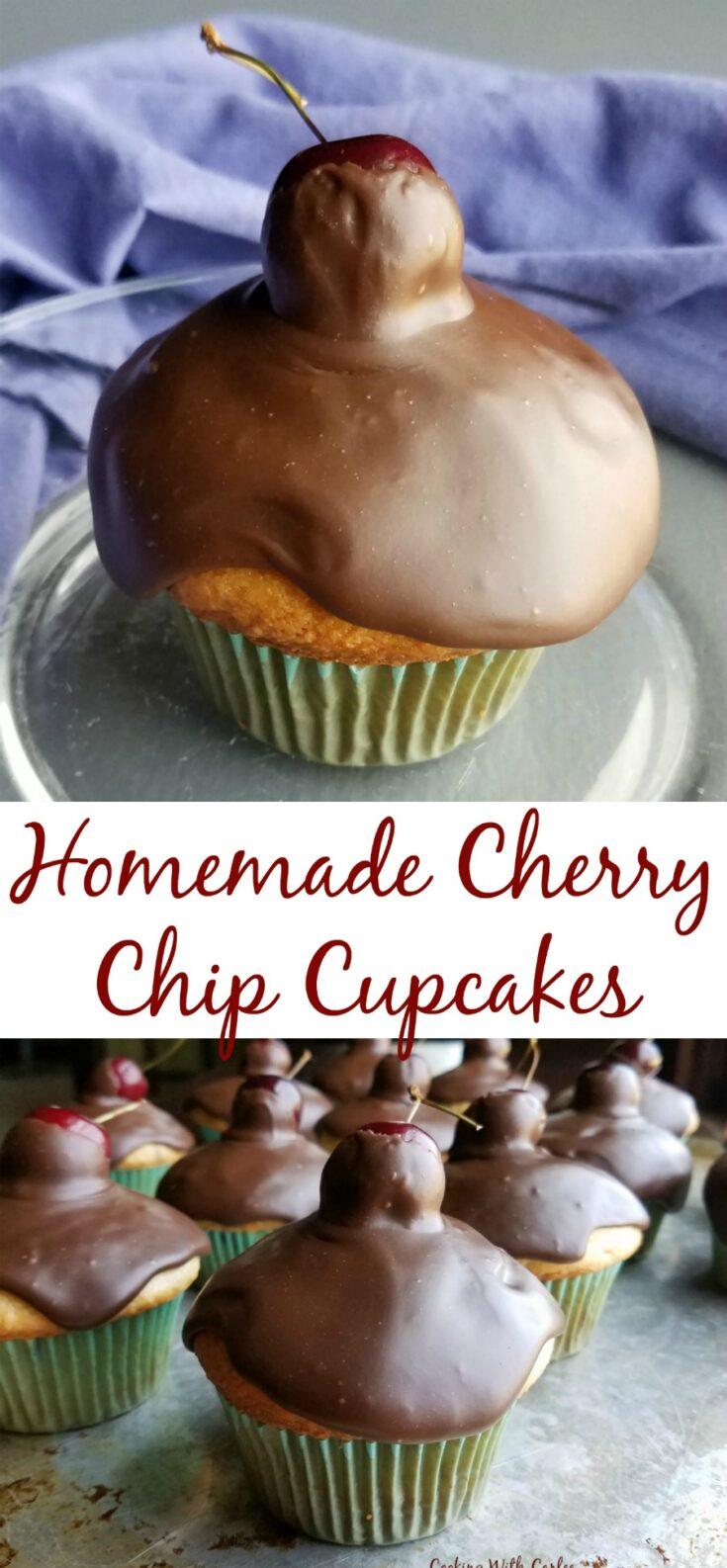 Cherry Chip Cupcakes Pin