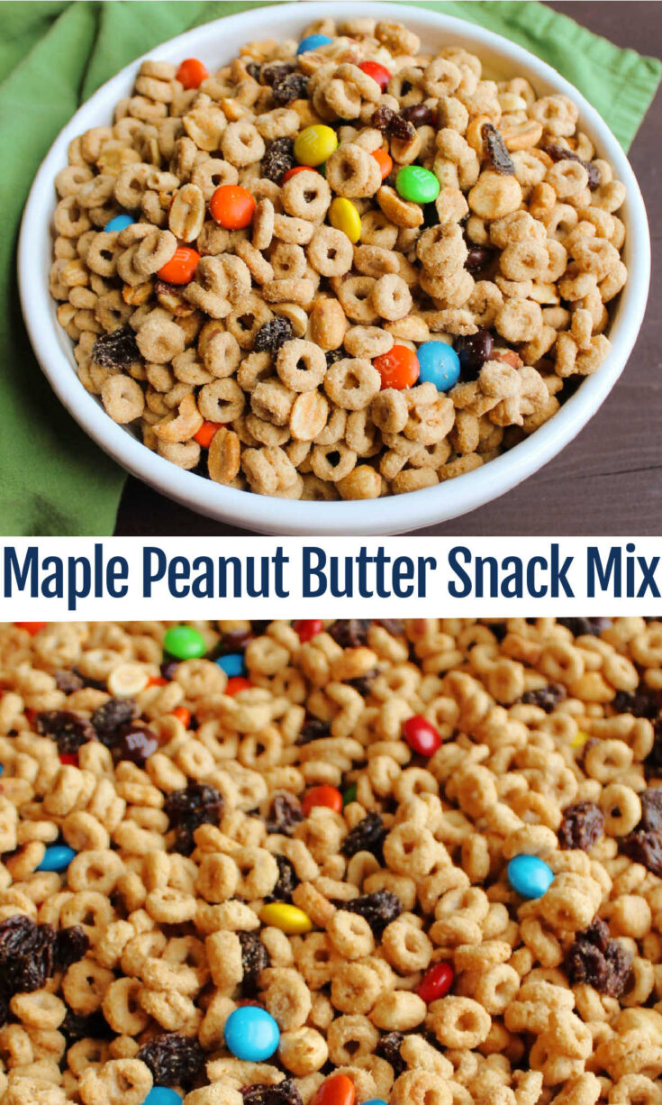 maple peanut butter snack mix 1