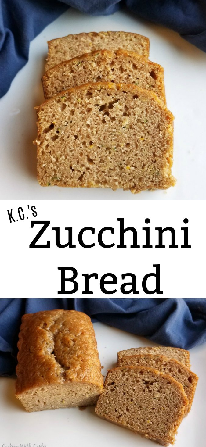 This zucchini bread has the perfect balance of sweet and spice and a great crumb. It is easy to make and a great way to use up the summer harvest. Freeze some zucchini to bake bread this winter!