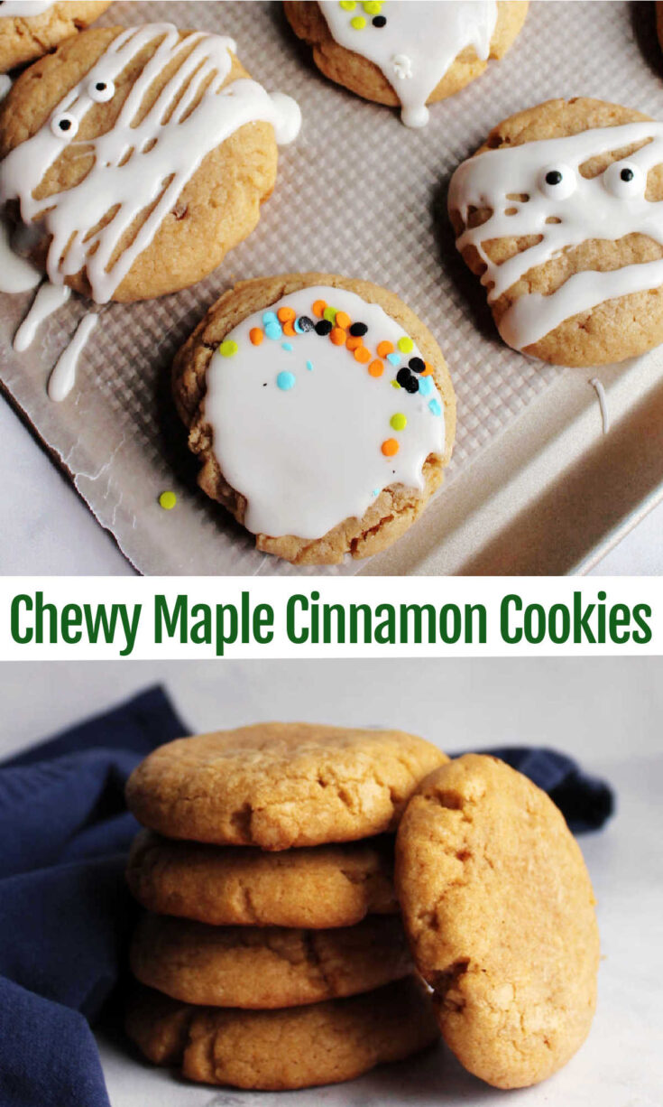 chewy maple cinnamon cookies