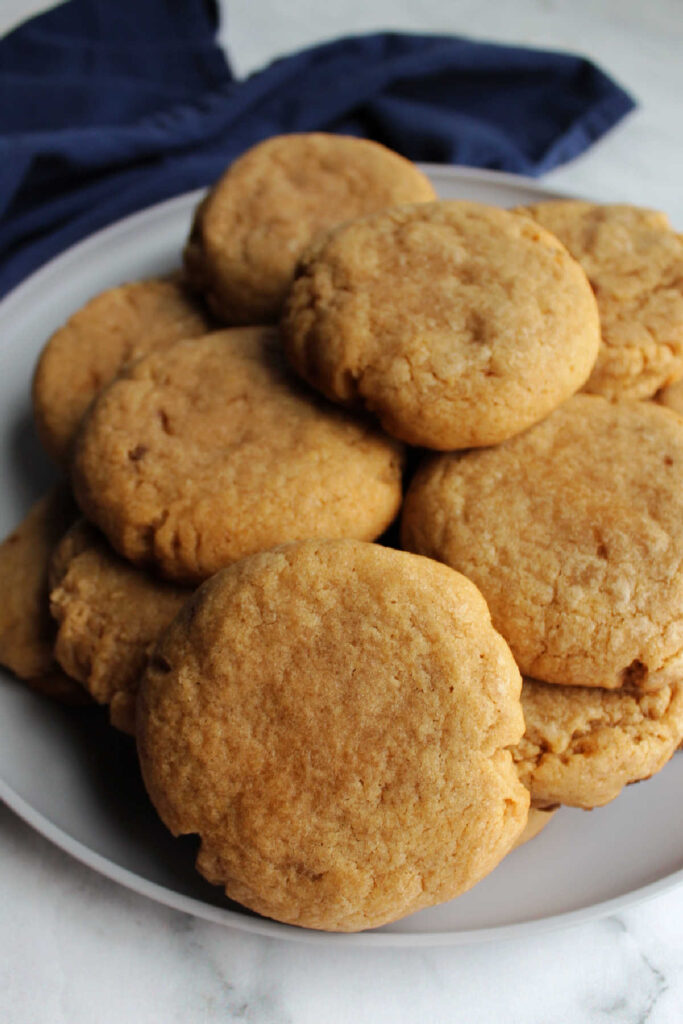 Plate of thick maple cinnamon cookies.