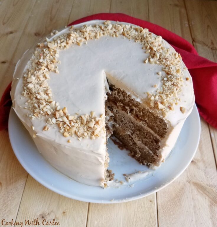 missing slice of applesauce cake