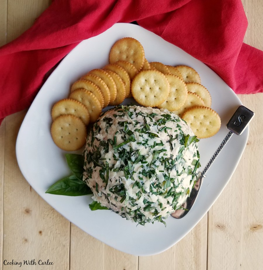 cheese ball ready to eat.