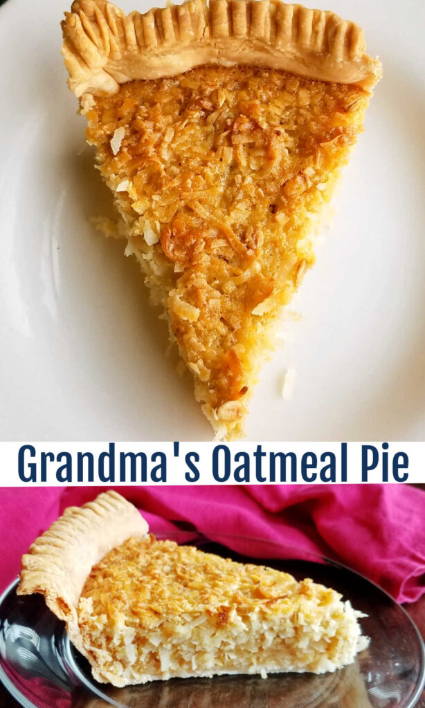 A flaky pie crust loaded with warm flavors, oatmeal and coconut is a treat to be sure. Grandma spent years perfecting this recipe so you don't have to. All you have to do is give it a try!