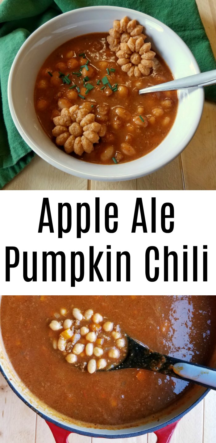 This chili is loaded with fall flavors! It is perfect for game day or for warming you when it's chili outside!