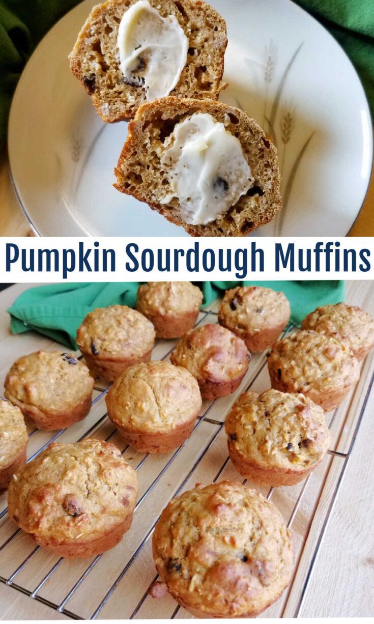 pumpkin sourdough muffins