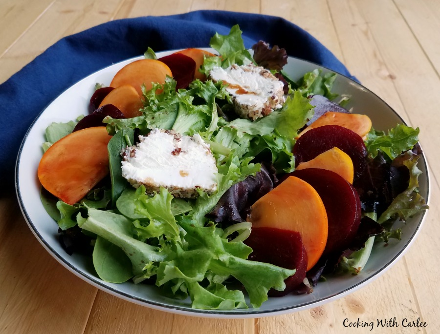 small bowl of salad ready to eat.