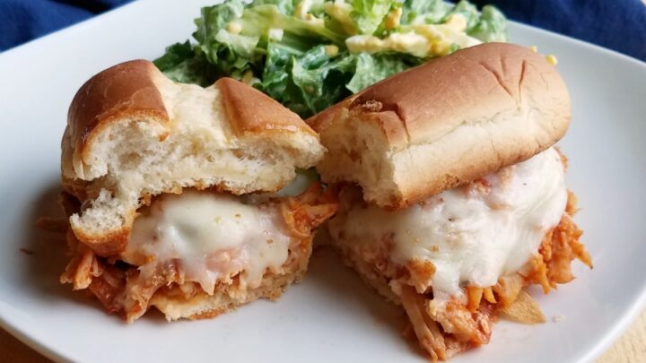 Chicken2BParmesan2BSandwich2Bhalves2Bwith2Bsalad