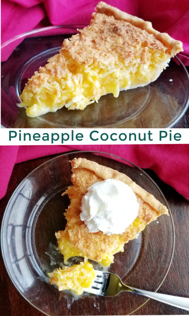 Bright, sweet and full of flavor and texture, this pie is the perfect combination of coconut and pineapple for a taste of the tropics in pie form!