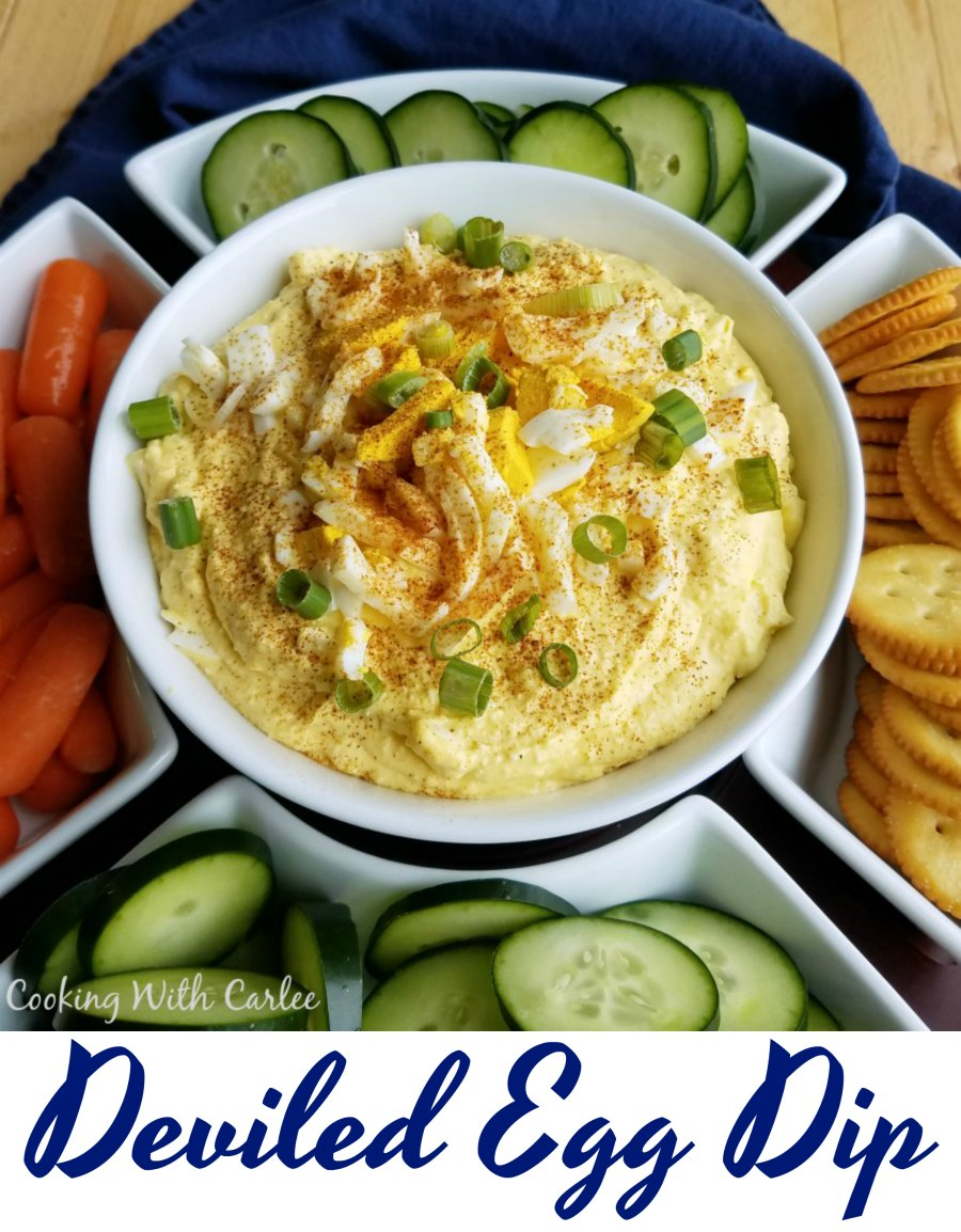 Whether you are just a fan of the flavor of deviled eggs but don't like the work of making them or you have extra hard boiled eggs you need used up, this dip is the perfect answer! It is easy and tasty!