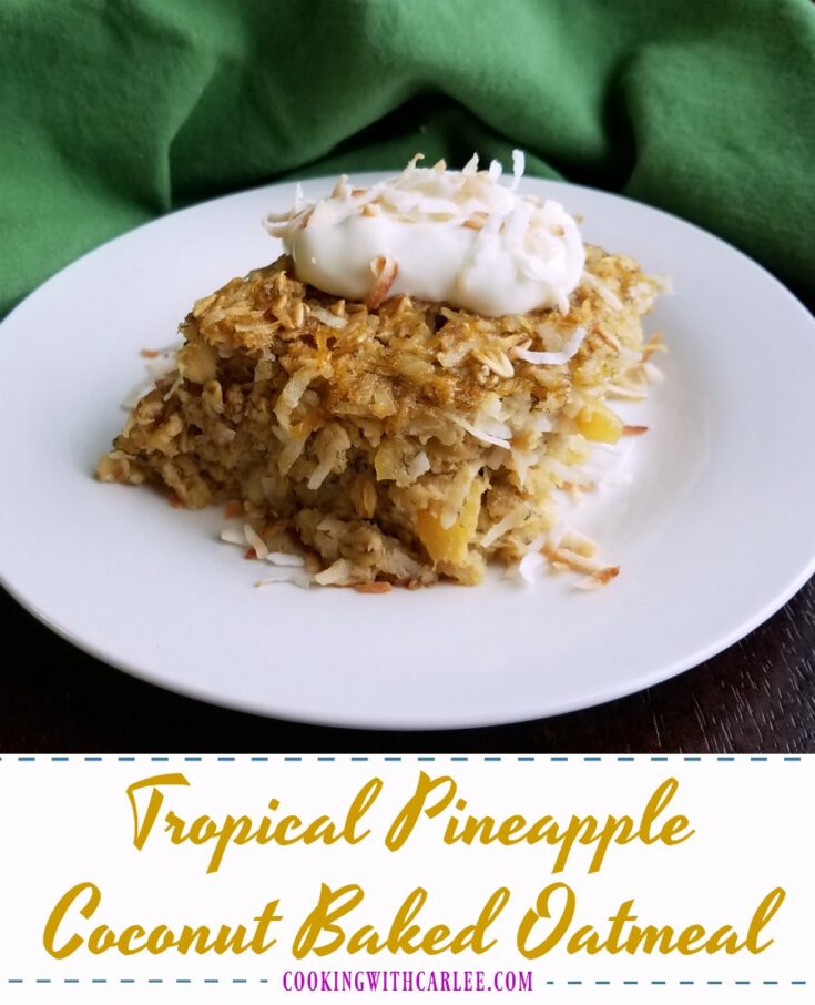 Tropical2Bpineapple2Bcoconut2Bbaked2Boatmeal