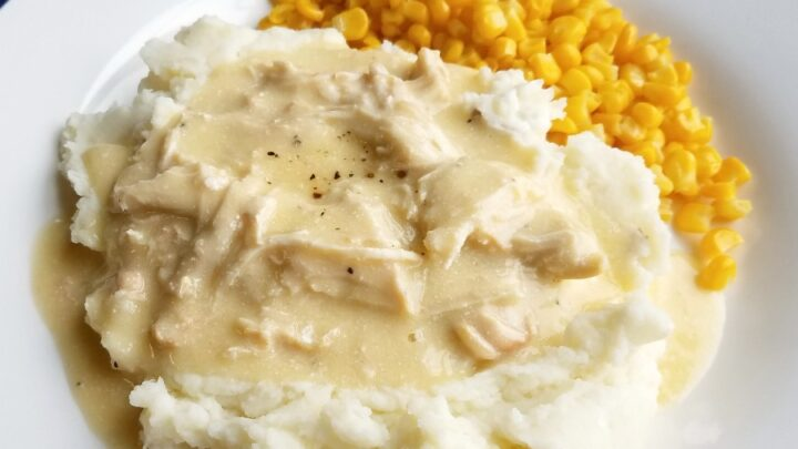 Creamy2BChicken2Band2BGravy2BServed2Bwith2BPotatoes2Bclose 2