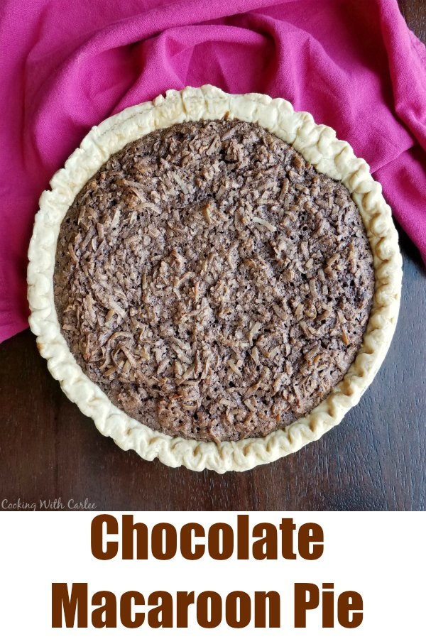 Chocolate and coconut goodness served up in a flaky shell, this chocolate macaroon pie is the perfect fusion of the classic cookie and pie. The combination makes for one delicious dessert!