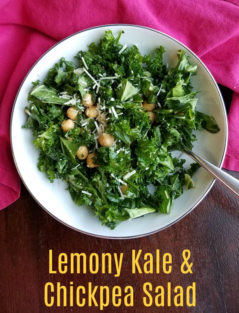 This salad is super simple but oh so good. Kale and chickpeas are married with a bright lemon dressing for a flavorful and nutritious salad.