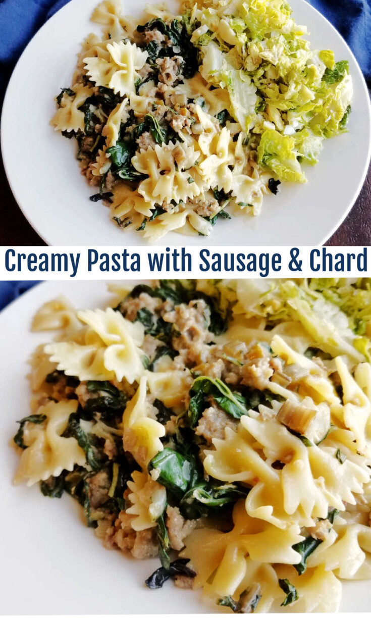 pasta with sausage and chard