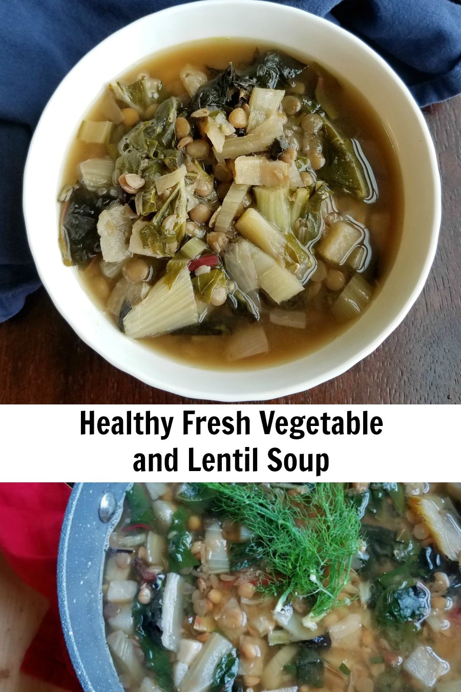 Fresh garden vegetables meet lentils for a hearty and delicious vegetarian soup. This easy, healthy and delicious soup makes for a perfect lunch or dinner year round!